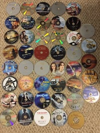 45 DVDs no cases Columbia, 21045