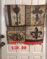 brown and black floral wooden cabinet Grand Prairie, 75052