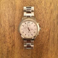 round silver-colored analog watch with link bracelet Clermont, 34711
