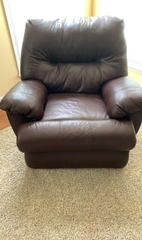 Leather recliner, power operator