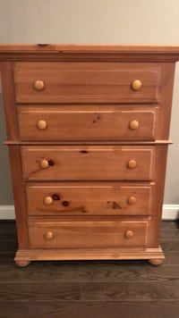 Brown wooden 5-drawer chest. One owner, great condition. Baltimore, 21202