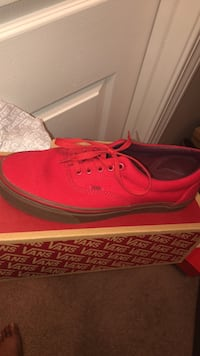 Red  with Brown bottom Vans, Sz 10 Union City, 30349