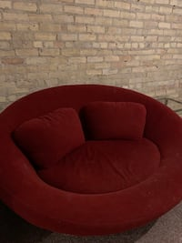 Red Circular Couch