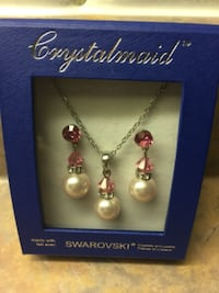 silver-colored necklace with earrings 560 km