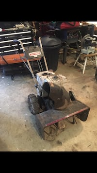 Black and gray craftsman snow blower firm at 175 Uniontown, 15401