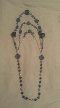 blue and teal and silver beaded necklace Kennesaw, 30144
