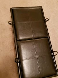 Leather storage ottoman with reversible trays Woodbridge, 22191