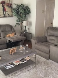 """Whole living room for sale, sectional from rooms to go, coffee table, side tables , tv stand and 55"""" lg tv 3D Henrico, 23294"""