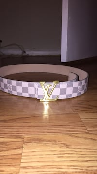 white and brown Louis Vuitton leather belt Manassas, 20111