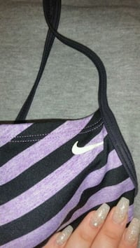 black and purple Nike tank top