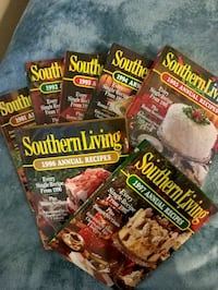 7 Southern Living hardback Annual Recipes Mount Holly