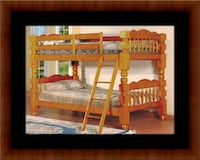 Wooden twin bunkbed frame with 2 mattress Washington, 20018