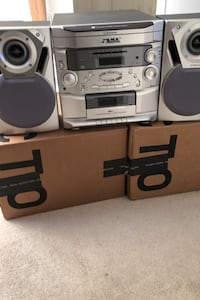 Home Audio System - w/6 CD Changer, Cassette Recorder, Remote Control
