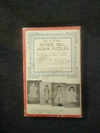 Antique / Vintage Set of Four Doll Jig-Saw Puzzles Brooklyn, 11237