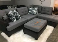 gray fabric sectional sofa with ottoman Silver Spring, 20902