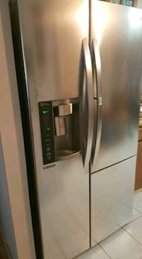 stainless steel side-by-side refrigerator with dispenser Katy, 77449