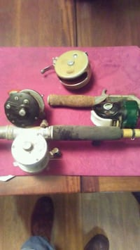 Vintage fishing rod and reels