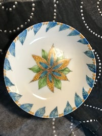 round white and blue floral ceramic plate Derwood, 20855