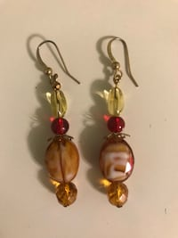 red orange and yellow earrings