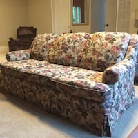 brown and white floral fabric sofa Renton, 98058