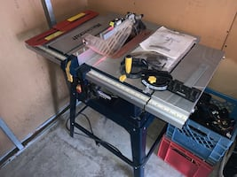 """10"""" table saw and stand with laser guide"""