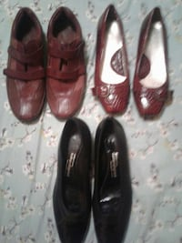 women's three pairs of assorted shoes
