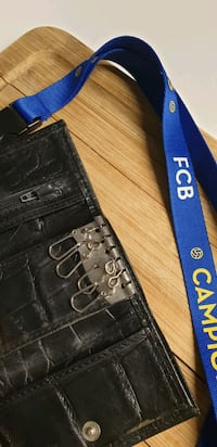 Leather KeyChain and FC Barcelona Lanyard Vancouver, V6Z 2N2