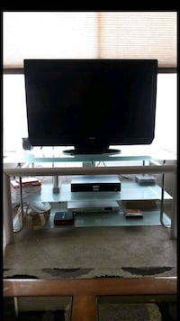 Glass and Silver TV Stand  Diamond Bar, 91765
