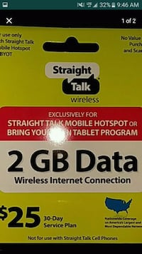 Straight Talk Tablet Data prepaid card