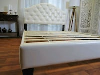 white and brown wooden bed frame Silver Spring, 20905