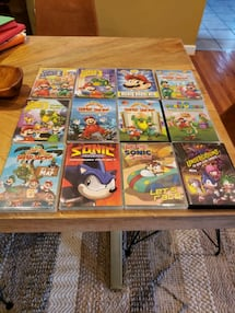 DVD Collection Lot Mario Brothers & Sonic Stories for Kids
