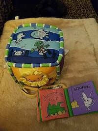 baby's blue, yellow and green cushion cube Hertford, 27944