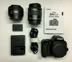 Canon SL2 DSLR camera