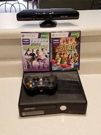 black Xbox 360 game console with game cases Tempe, 85281