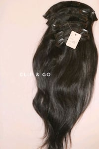 18 inch black clip in extensions