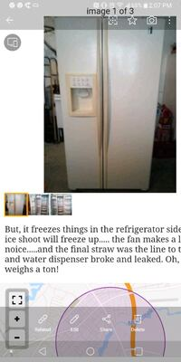 white and black side-by-side refrigerator screenshot Wilmington, 19810