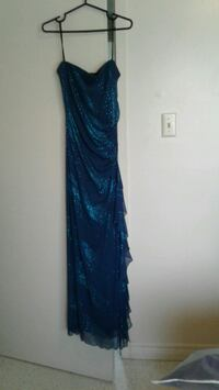 2 tone blue sequin long dress with ruffle  Hamilton, L8W 1E9
