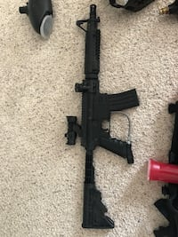 I have a paintball gun that has never been used. I got it 2 years ago and still have not had time to use it. This has all the equipment. It comes with a digital scope as well and 2000 paintballs.  Rockford, 61108
