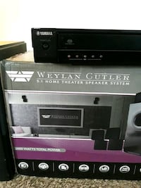 surround sound system and DVD / opend once never used ((gift