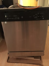 Black and Stainless GE Dishwasher