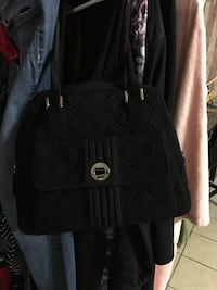 black and gray leather crossbody bag