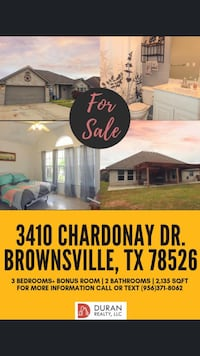 Home for sale in Emerald Valley! ???? Brownsville