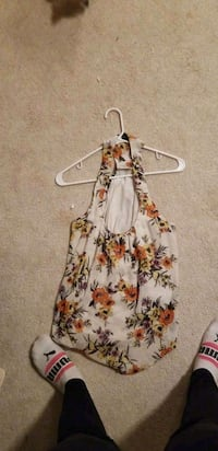white and red floral sleeveless dress Tacoma, 98422