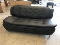 Modern Faux Leather Black Couch Sofa South Pasadena