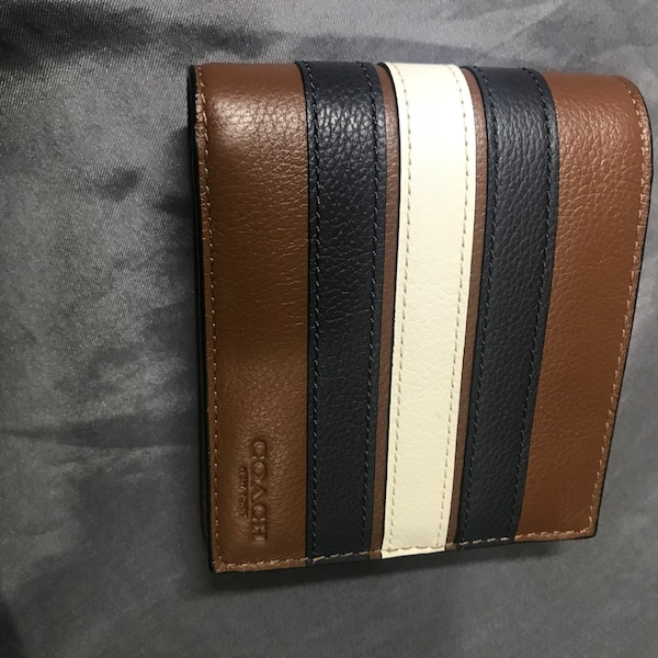 Black and brown leather wallet