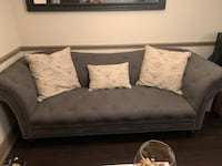 Hutton Dark Gray Fabric Sofa Tampa, 33615