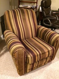 brown striped armchair Leominster, 01453