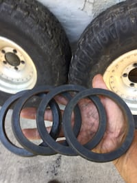 Aluminum rims and tires with spacers had them on a f150