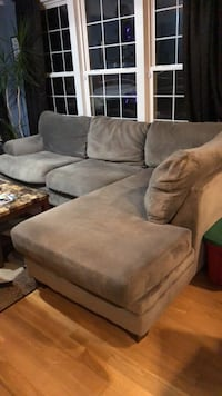 gray suede 2-seat sofa King George, 22485