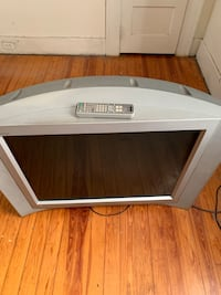 White and black wooden tv stand 459 mi
